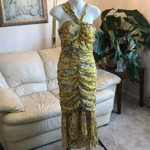 Dresses & Skirts - Ruched Paisley Dress  Prairie Yellow Maxi dress
